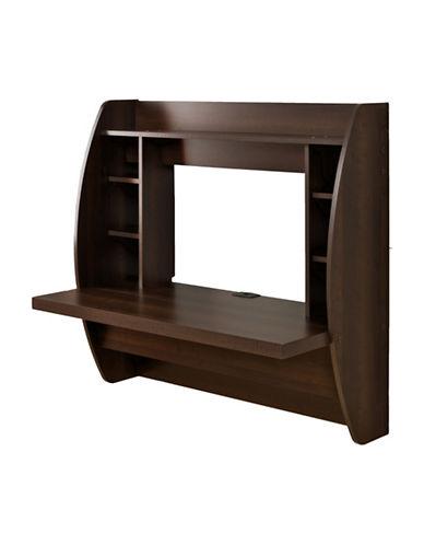 Prepac Floating Desk with Storage-ESPRESSO-One Size