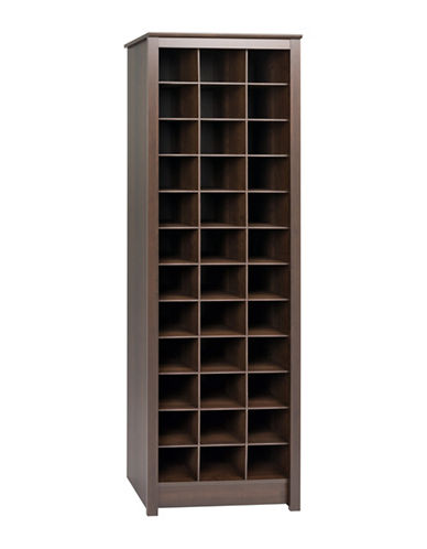 Prepac Tall Shoe Storage Cabinet-ESPRESSO-One Size