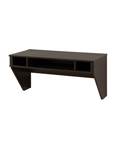 Prepac Designer Floating Desk-WASHED BLACK-One Size