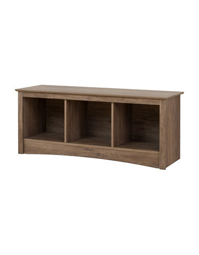 Prepac Rectangular Cubby Bench-DRIFTED GREY-One Size