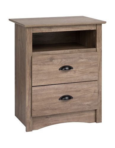 Prepac Salt Spring Tall Nightstand-DRIFTED GREY-One Size