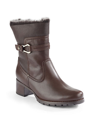 Blondo AquaProtect Leather Sheepskin Trimmed Boots-CAFE BROWN-8