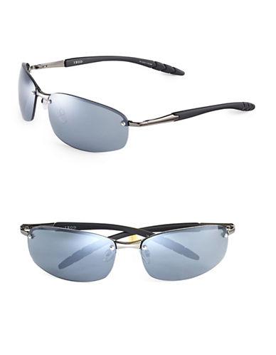Izod 70mm Metal Rimless Sunglasses-GUNMETAL-One Size
