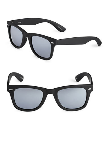 Izod 50mm Mirrored Wayfarer Sunglasses-WHITE-One Size