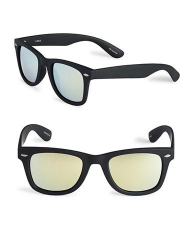 Izod 50mm Mirrored Wayfarer Sunglasses-YELLOW-One Size