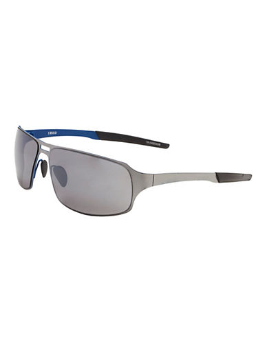 Izod 67mm Metal Sport Wrap Sunglasses-BLUE-One Size