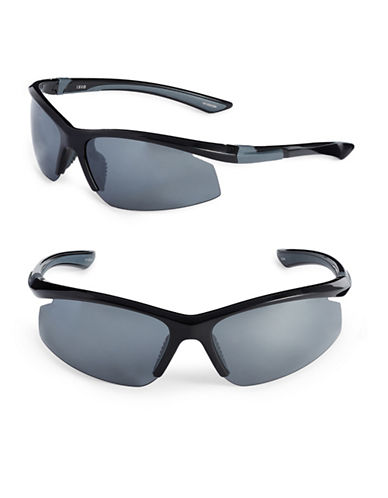 Izod 75mm Polarized Blade Sunglasses-BLACK-One Size