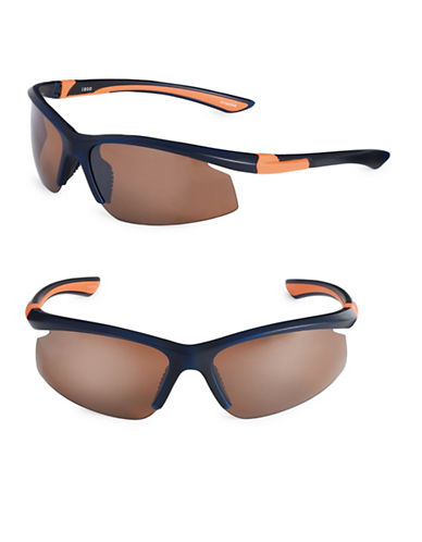 Izod 75mm Polarized Blade Sunglasses-NAVY-One Size