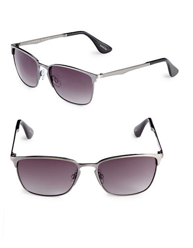 Alfred Sung 54mm Brushed Clubmaster Sunglasses-GUNMETAL-One Size