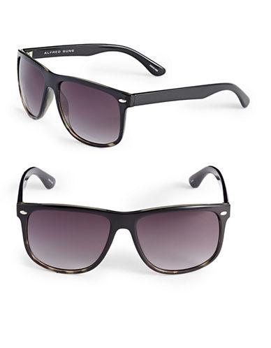 Alfred Sung 57mm Gradient Tortoiseshell Wayfarer Sunglasses-BLACK-One Size