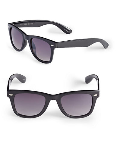 Alfred Sung 50mm Cats-Eye Wayfarer Sunglasses-BLACK-One Size