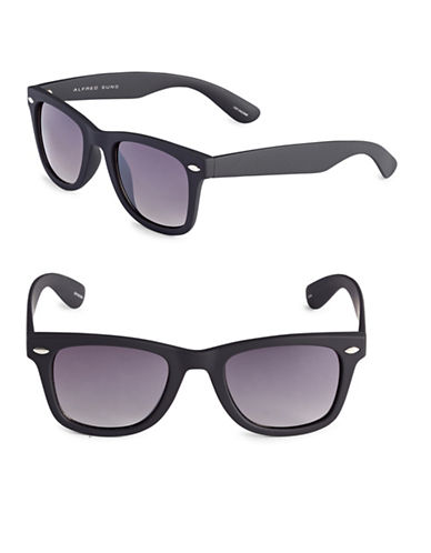 Alfred Sung 50mm Cats-Eye Wayfarer Sunglasses-MATT BLACK-One Size