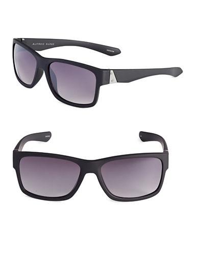 Alfred Sung 58mm Flat Top Wayfarer Sunglasses-BLACK-One Size