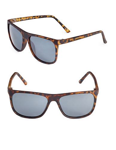 Alfred Sung 55mm Polarized Tortoiseshell Wayfarer Sunglasses-TORTOISE-One Size