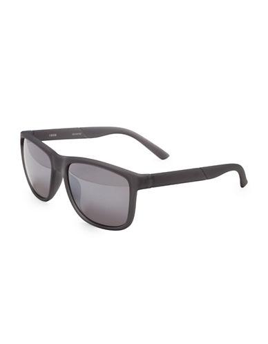 Izod 53MM Modified Wayfarer Sunglasses-GREY-One Size