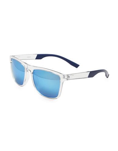 Izod 50MM Modified Wayfarer Sunglasses-GREY-One Size