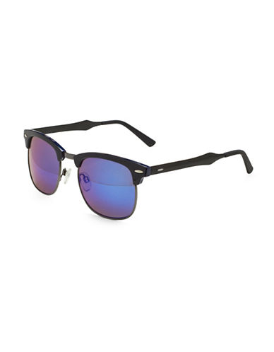 Alfred Sung 49MM Clubmaster Sunglasses-NAVY BLUE-One Size