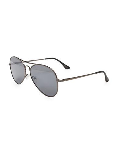 Alfred Sung 54MM Aviator Sunglasses-ORANGE-One Size