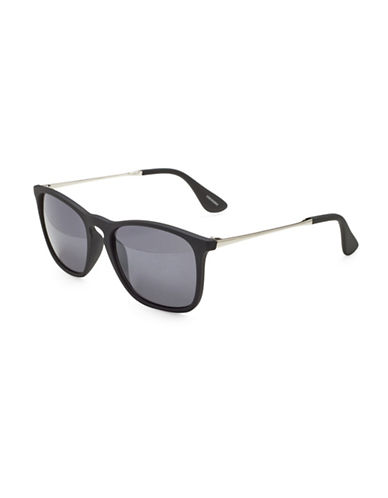 Alfred Sung 51MM Modified Wayfarer Sunglasses-BLACK-One Size