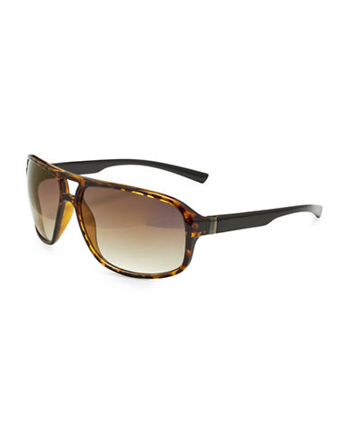 Alfred Sung 59MM Aviator Sunglasses-BLACK-One Size