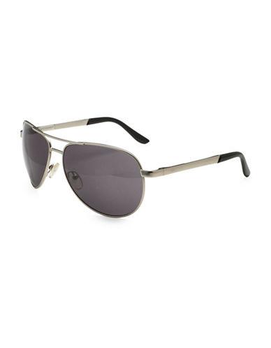 Alfred Sung 57MM Aviator Sunglasses-BLACK-One Size