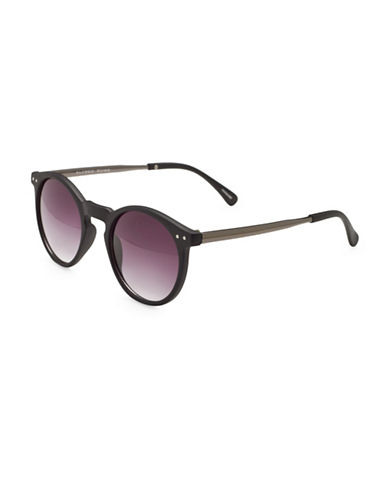 Alfred Sung 48MM Round Sunglasses-GREY-One Size
