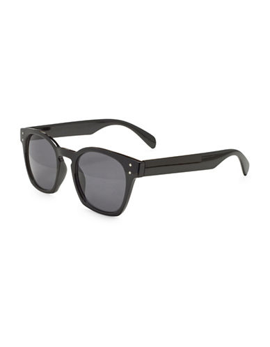 Alfred Sung 45MM Modified Wayfarer Sunglasses-BLACK-One Size