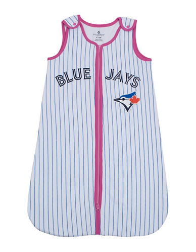 Snugabye MLB Toronto Blue Jays Pinstripe Sleep Bag-WHITE-12 Months