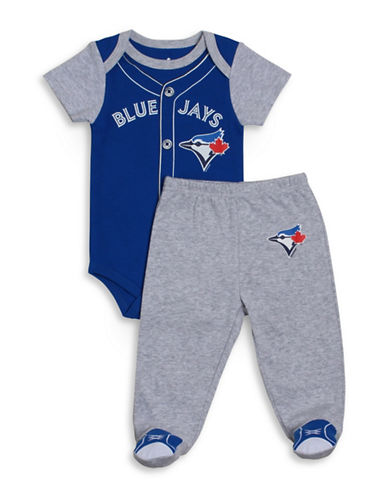 Snugabye Two-Piece MLB Toronto Blue Jays Bodysuit and Pants Set-BLUE-3 Months