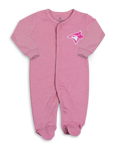Snugabye MLB Toronto Blue Jays Cotton Footie-PINK-3 Months