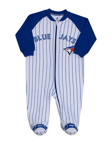 Snugabye MLB Toronto Blue Jays Cotton Pinstripe Footie-WHITE-6 Months