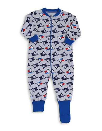 Snugabye MLB Toronto Blue Jays Logo Convert-A-Foot Cotton Footie-BLUE-24 Months