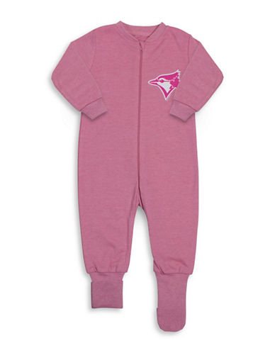 Snugabye MLB Toronto Blue Jays Convert-A-Foot Cotton Footie-PINK-24 Months