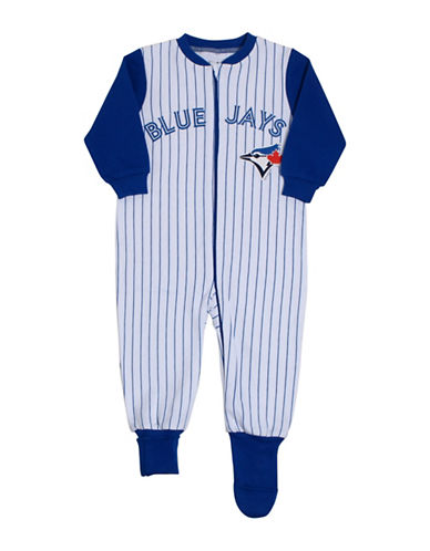 Snugabye MLB Toronto Blue Jays Pinstripe Convert-A-Foot Footie-WHITE-12 Months