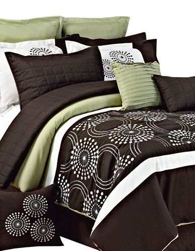 Life Style Linens Milos 12-Piece Bed in a Bag-MULTI-Queen
