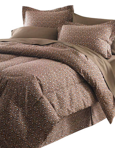 Life Style Linens Safari Eight-Piece Bed in a Bag-MULTI-Queen
