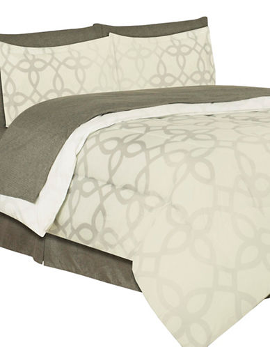 Life Style Linens Centrum Eight-Piece Bed in a Bag-MULTI-Queen