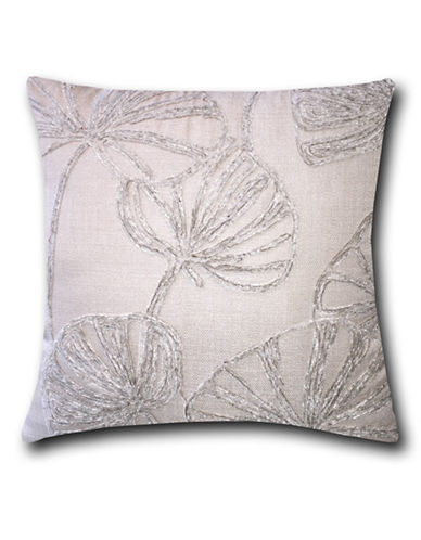 Home Outfitters Crewel Embroidered Throw Pillow-CREAM-18x18