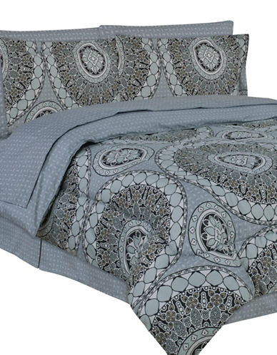 Life Style Linens Taunton Eight-Piece Bed in a Bag-MULTI-Twin