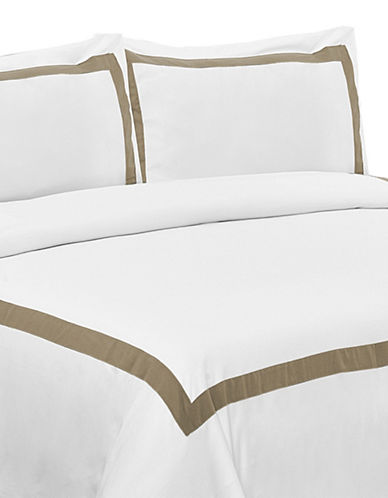 Life Style Linens Estate Three-Piece Duvet Cover Set-BROWN-Queen