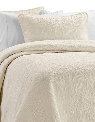 Life Style Linens Millano Chambrey Three-Piece Quilt Set-BEIGE-King
