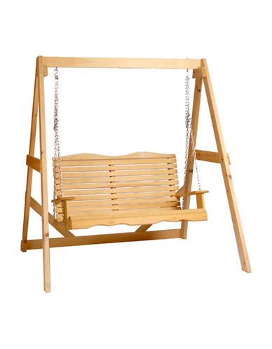 Country Comfort Chair Cape Cod Wooden Swing-BEIGE-One Size