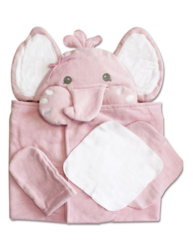 Piccolo Bambino 4 Piece Bath Set - Pink Elephant-PINK-One Size
