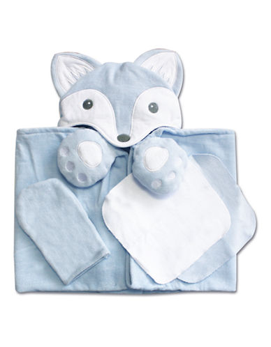 Piccolo Bambino 4 Piece Bath Set - Blue Fox-BLUE-One Size