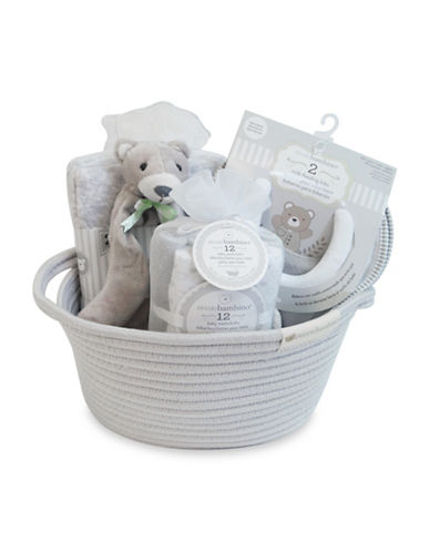 Piccolo Bambino 16-Piece Cotton Gift Set-GREY-One Size