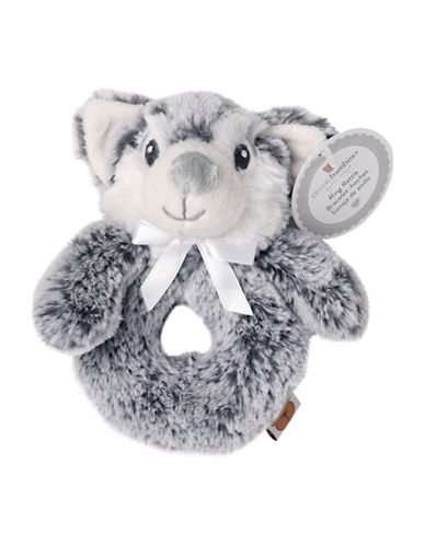 Piccolo Bambino Baby Ring Rattle Wolf-GREY-6-18 Months