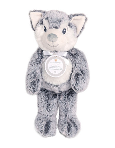 Piccolo Bambino Babys First Toy Wolf-BLUE-6-18 Months