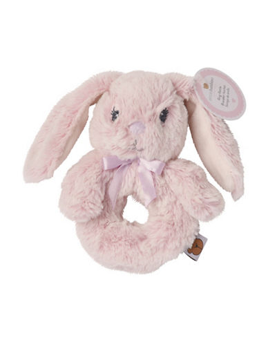 Piccolo Bambino Babys Ring Rattle Bunny-PINK-6-18 Months