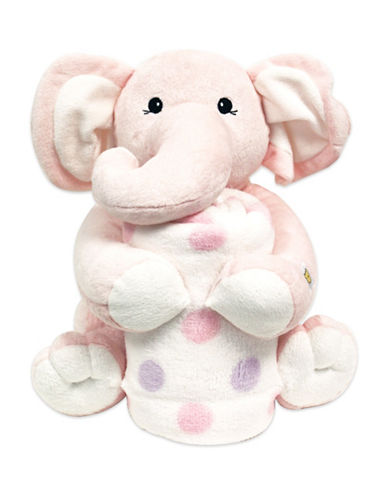 Piccolo Bambino Two-Piece First Blanket and Toy Set-PINK-One Size