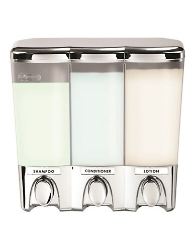 Better Living Clear Choice 3 Chrome Dispenser-SILVER-One Size